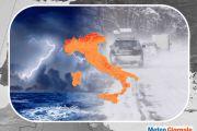 Inverno dalle insidiose tempeste di neve dai Centri Meteo Internazionali