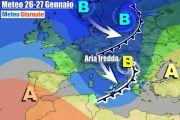 METEO Italia. Dal Freddo con Neve alla Fulminea Alta Pressione