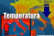 Meteo Italia: TEMPERATURE giù nei TEMPORALI, poi CALDO AFRICANO