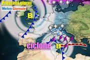 Meteo 7 giorni: arriva CICLONE MEDITERRANEO. Rischio nubifragi, MALTEMPO