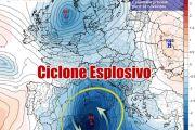ALLARME MALTEMPO violento ciclone in formazione, rischio venti di tempesta e nubifragi