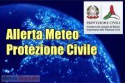 ALLERTA meteo Protezione Civile per TEMPORALI